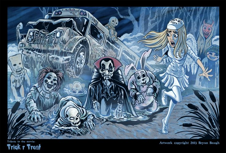Tribute To The Movie Quot Trick R Treat Quot Artwork By Bryan