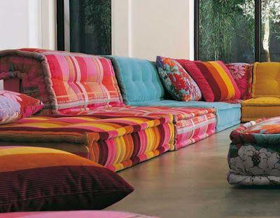 Il Mah-Jong di Roche Bobois .. bello il Marocco Style