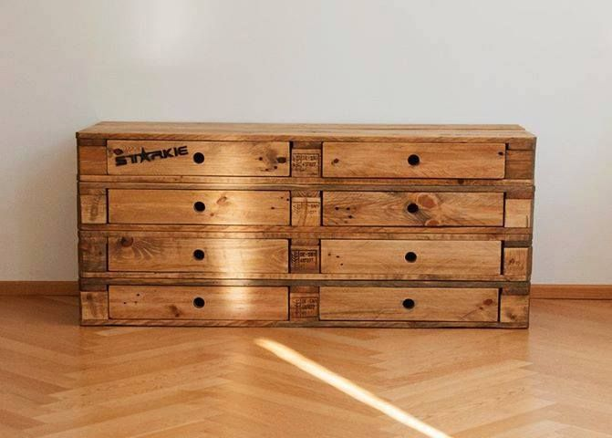 Build A Dresser From Pallets