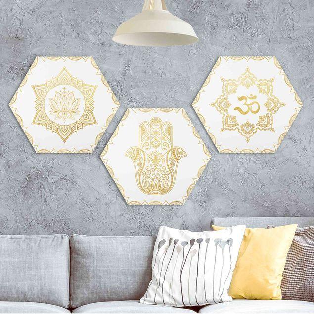Collage Mangala Gold In 2020 Wandgestaltung Wandgestaltung Ideen Wandbilder