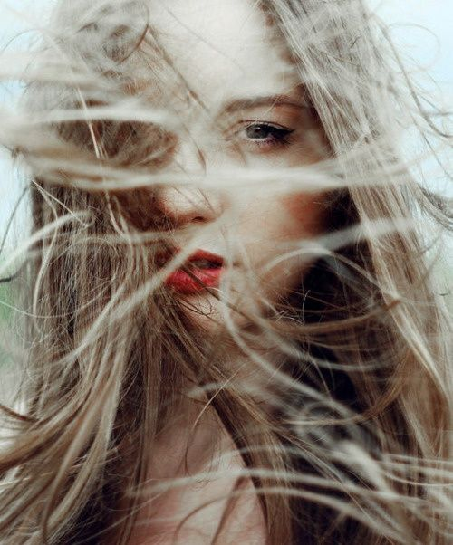 Nova Scotia wind-whipped hair