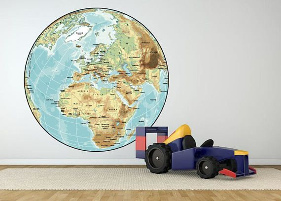 The 14 best world map wall decal world map wall sticker world world map wall decal world globe wall decal world map wall gumiabroncs Image collections