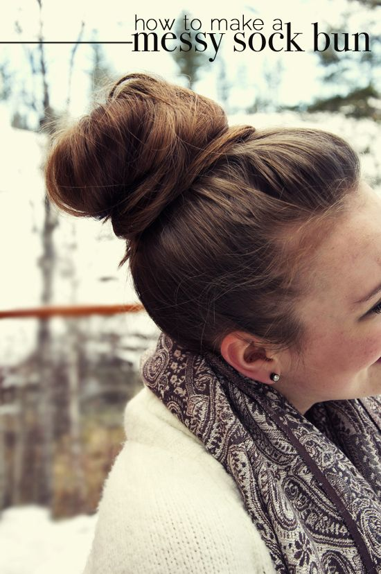 The Perfect Pear: DIY // Messy Sock Bun