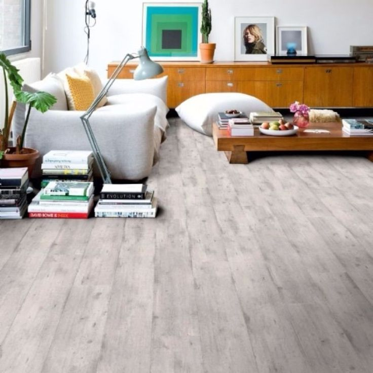 Quickstep 8mm Concrete Wood Light Grey Laminate Flooring Part 45
