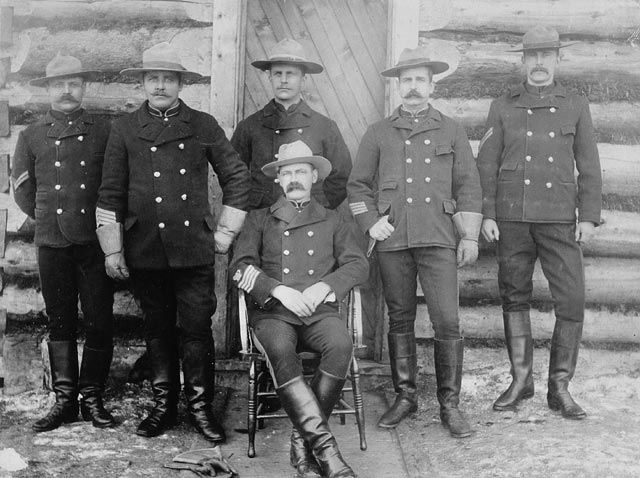 A hard working group of yesteryear Canadian Mounties. #Victorian #vintage #Canada #history