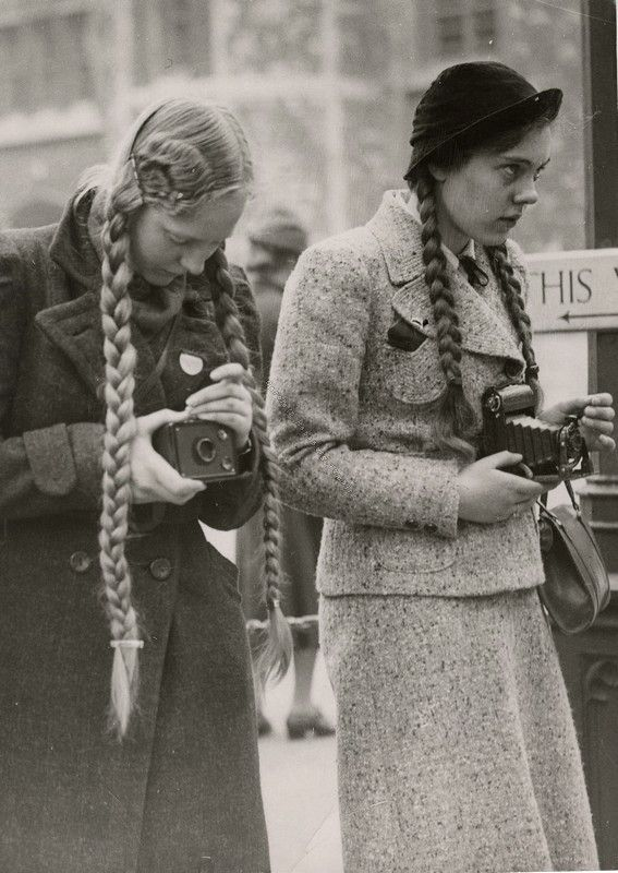 Camera girls. Late 1930s- Early 1940s.