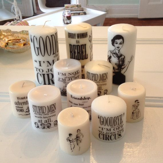 Custom Candle  // Your Artwork on a 3 x 6 Unscented Candle  // Wedding // Baby Shower // Bridal Shower