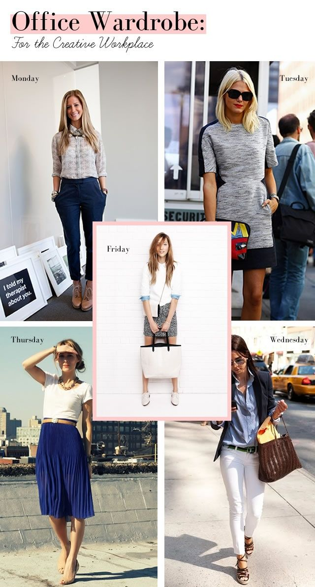 Just Us Gals: Dress Code: Work Attire - How to Dress for the Creative Workplace - Elanor Clothes Designer