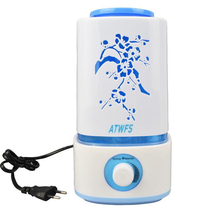 ATWFS Purificateur D'air Air Mist Maker Fogger Humidificateur À Ultrasons Huile Essentielle Diffuseur Arôme Lampe Nébuliseur Led