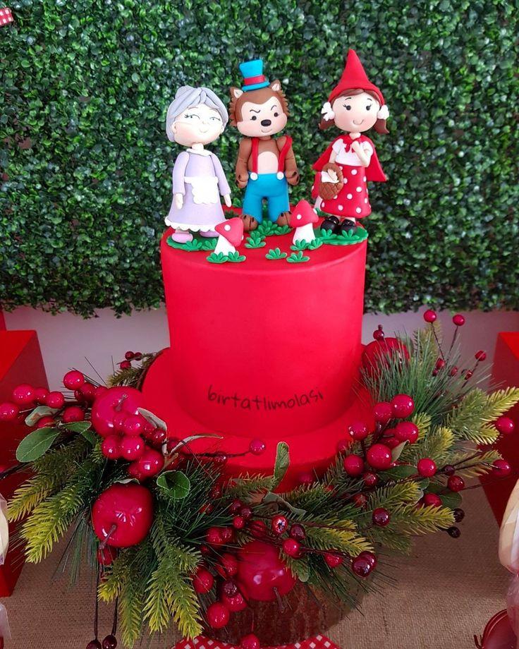 Kırmızı Başlıklı Kız Pasta   Red Riding Hood Cake
