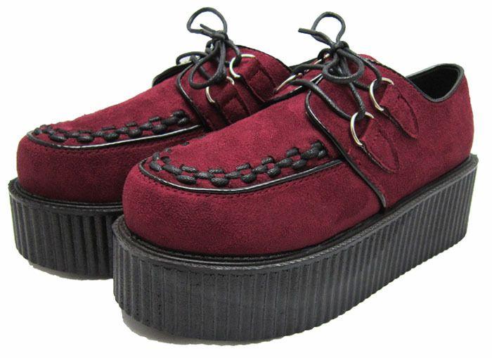 Aliexpress.com: Comprar Icoin! zapatos de mujer zapatos de leopardo de peluche negro remache de cuero punky HARAJUKU vendimia enredaderas góticas zapatos de plataforma pisos de zapatos rojos de pisos fiable proveedores en ICOIN