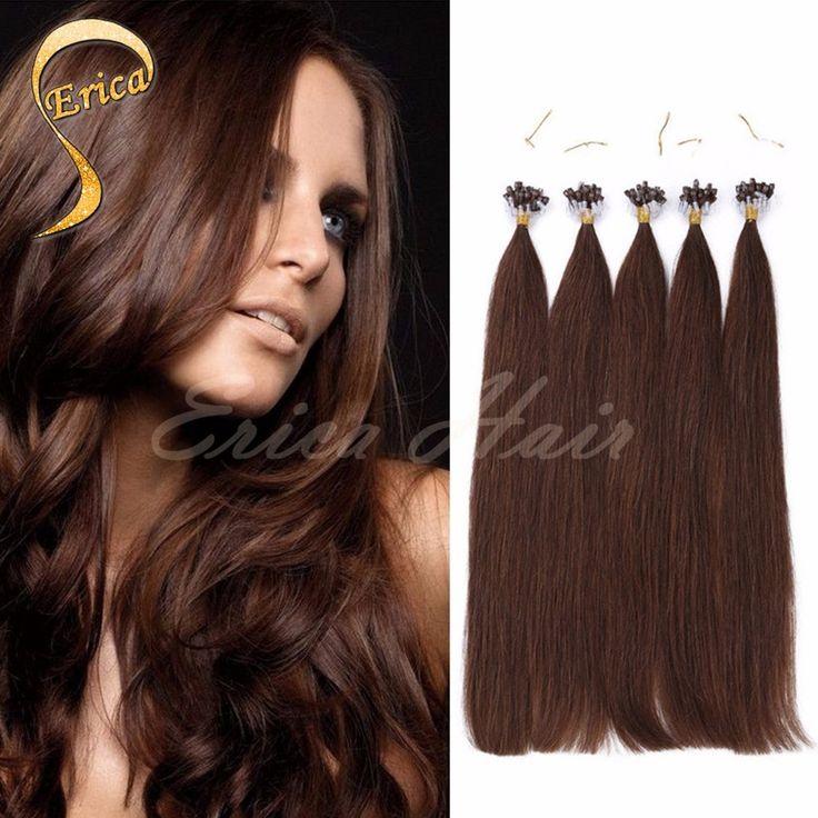 Micro Loop Hair Extensions 100% Brazilian Virgin Hair Auburn Straight Micro Bead Loop Ring Hair Extensions