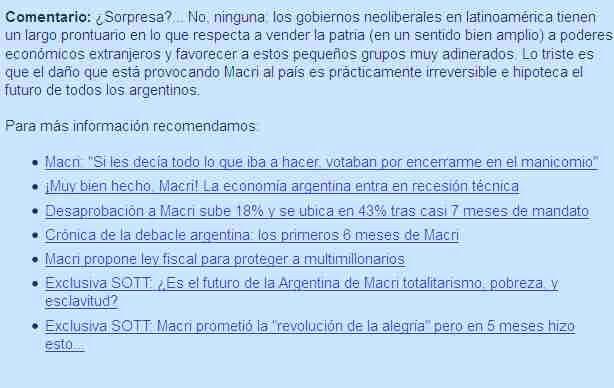NEOLIBERALISMO  Macri  ARGENTINA  5 meses.. MIERDA.. - www.sta.cr/2pIz3 www.sta.cr/2pIy3