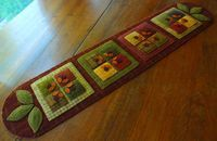 Wool applique quilt block table runner by HorseAndBuggyCountry