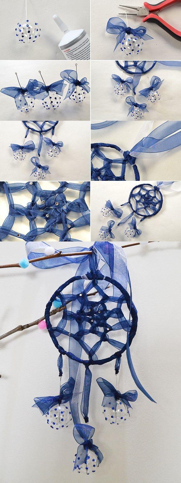 blue dream catcher, like it? LC.Pandahall.com will publish the tutorial soon…