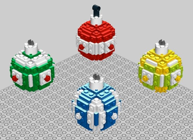 Lego Christmas ornament instructions
