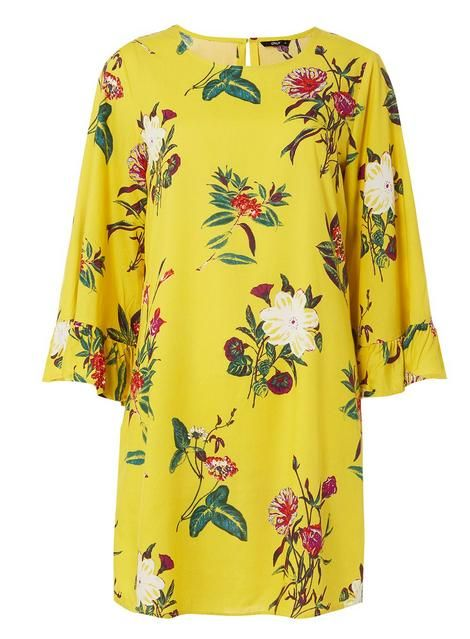 7fe2a8c702d   Only Yellow Floral Print Shift Dress