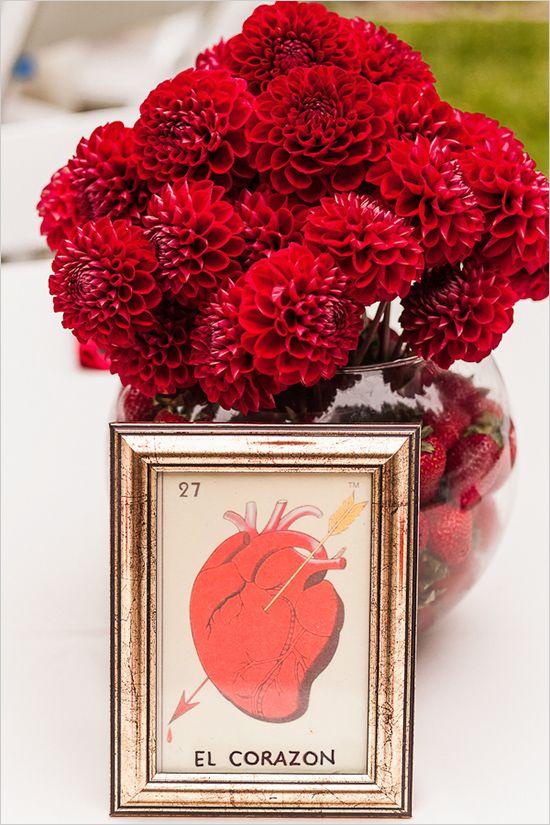 VIDA Leather Accent Tag - Red Bouquet by VIDA 8LBlxj5y9S