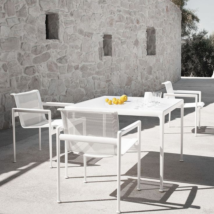 Knoll Richard Schultz 1966 Dining Chairs And Table All White Mediterannean