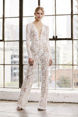 6f86a53d0ad Tadashi Shoji Revel Long Sleeve Lace Jumpsuit