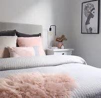 Image result for white,black,blush bedroom