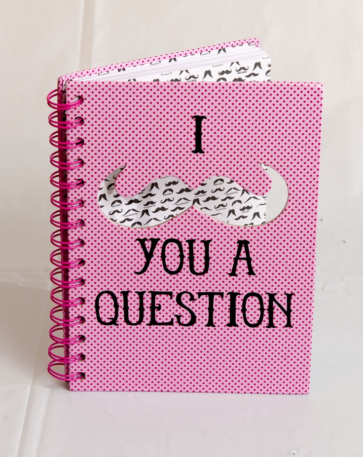 CHEEKY: Pink polka dot moustache notebook, $9.75 at Claires.com. Enter to win a $ 500 shopping spree with @TheProvince and Brentwood Town Centre: http://theprov.in/pinandwin #backtoschool