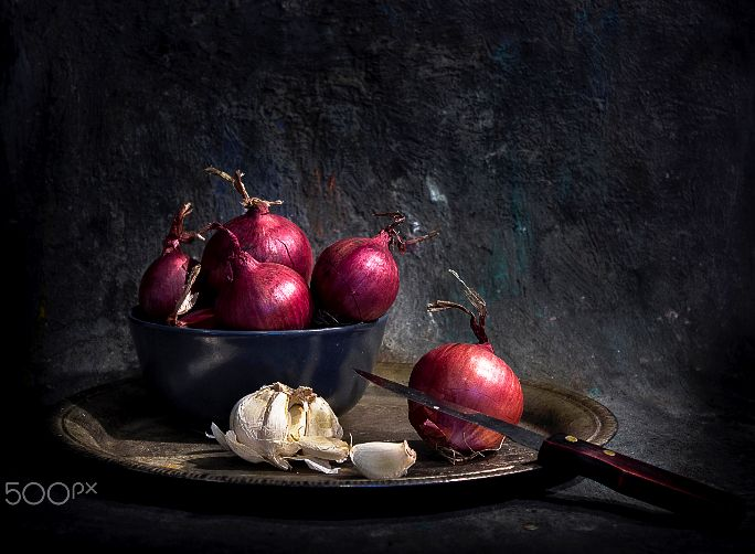 Red Onions and garlic !!! by Mostapha Merab Samii on 500px