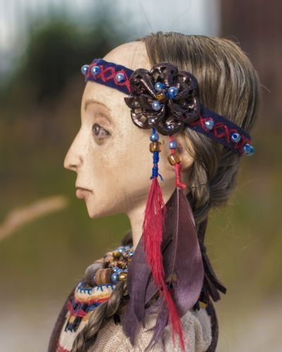 The Doll Made of Wood Indian Girl The Daughter of of The Shaman | eBay