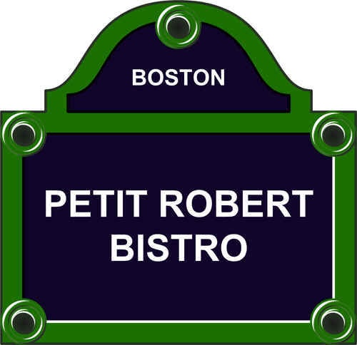 Petit Robert Bistro- Reasonable French Food, conveniently between the Back Bay & Fenway.  Just look for the light-up Eiffel Tower!