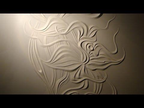 Мастер класс Барельеф цветка из гипсовой шпаклёвки своими руками - YouTube
