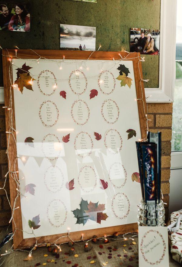 Fall weddings - wedding seating plan - wedding seating chart ideas #rusticweddinginspiration