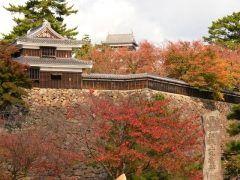 松江城山公園が紅葉真っ盛りです 今が見ごろ11月末までは松江城をバックにきれいな紅葉を楽しむことができます  国宝にもなった松江城春は桜の名所なのですが秋の松江城もとってもきれい 周辺には小泉八雲記念館もありますよ  tags[島根県]