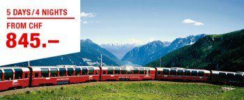 Glacier, Bernina and Wilhelm Tell Express.