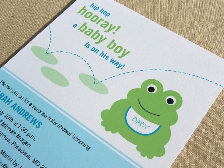 Frog Baby Shower Invitation / Printable Baby Shower Invitation. $12.50, via Etsy.