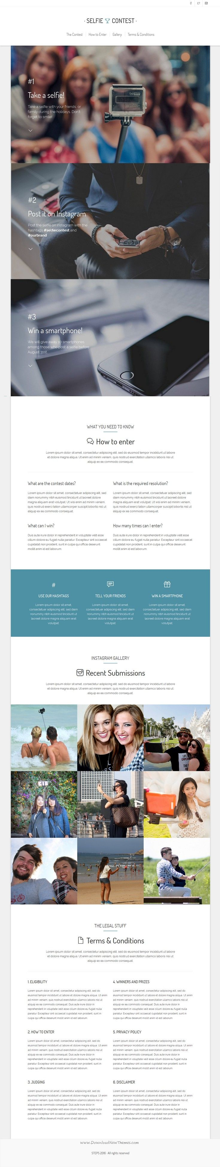 STEPS is wonderful Step-by-Step Bootstrap Landing Page template. #contest #marketing #landingpagetemplate Download Now!