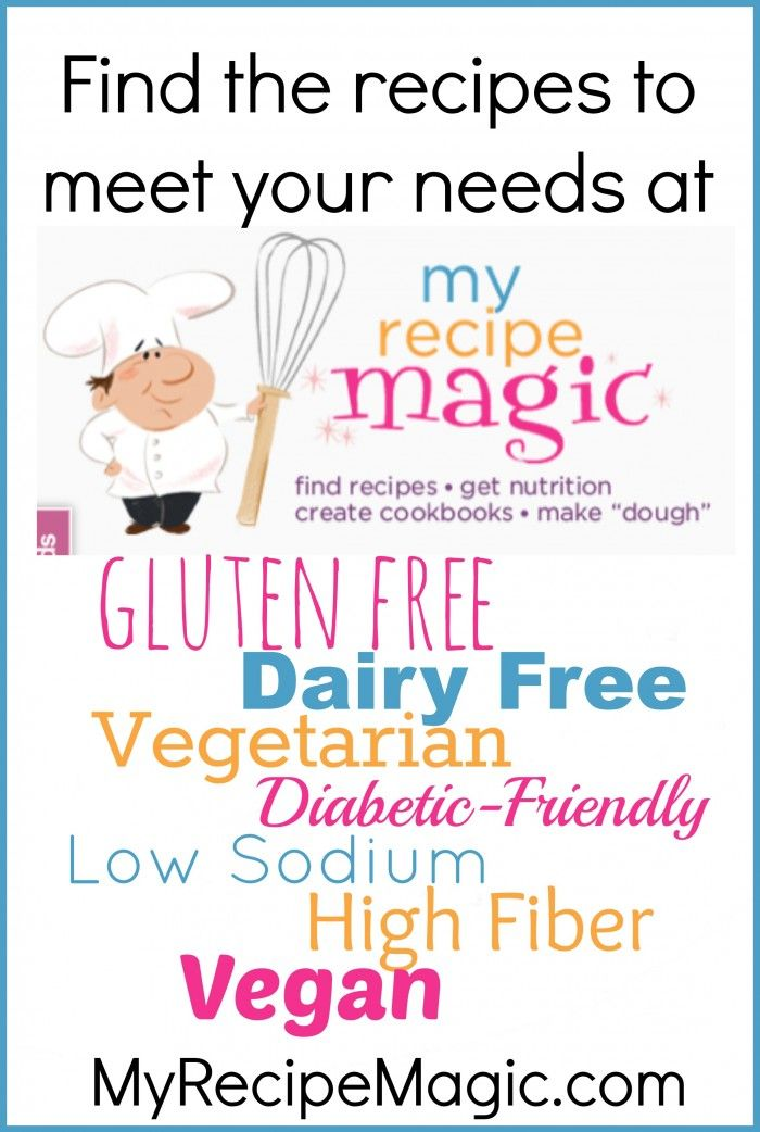 Find nutritional values for your favorite recipes at MyRecipeMagic.com