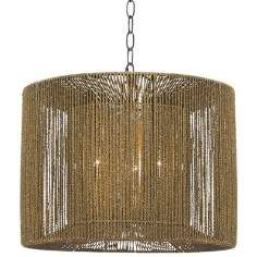 """Bolivar 16"""" Wide Rope String and Metal Pendant"""