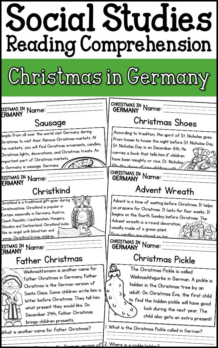 Christmas In Germany Reading Comprehension Passages K 2 Distance Learning Reading Comprehension Reading Comprehension Passages Comprehension Passage [ 1150 x 720 Pixel ]