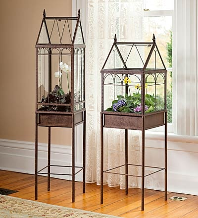 Victorian terrariums. I think I need these...