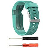 GBSELL Replacement Silicone Band Rubber Strap Wristband Bracelet with Screw Driver For Fitbit Charge HR Small (Green) - http://www.painlessdiet.com/gbsell-replacement-silicone-band-rubber-strap-wristband-bracelet-with-screw-driver-for-fitbit-charge-hr-small-green/