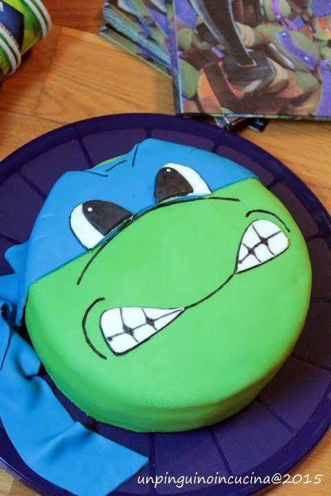 Un pinguino in cucina: Tartaruga Ninja per i 3 anni del Patatone - Ninja Turtle Birthday Cake