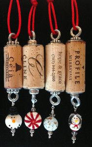 CHRISTMAS-Authentic-Wine-Cork-Ornament-Snowman-Collectible-Gift-Bottle-Hanger