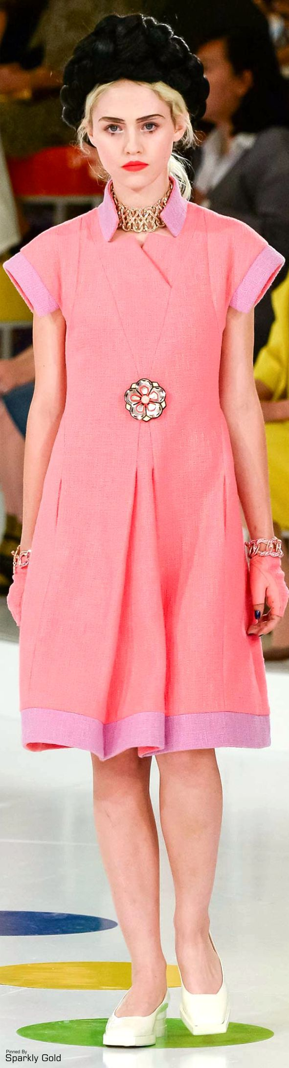 Chanel ~ Resort Spring Coral Dress w Pink Accent 2016
