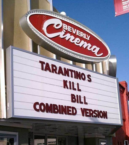 New Beverly Cinema in Fairfax, owned by Tarantino. One of my favorite places in LA!!