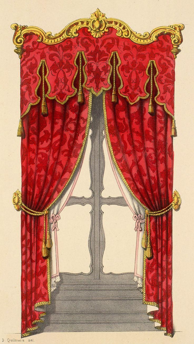 Victorian velvet curtains - Bed Curtains Window Treatments Rococo Baroque Valances Feelings Retail Victorian Keys