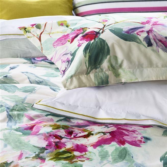 Saverne Camellia Bed Linen Designers Guild Linen Bedding Cotton Bed Linen Cotton Bedding