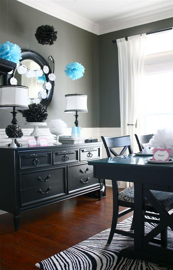 Navy blue bedroom colors - The Yellow Cape Cod Painting Sideboard And Dining Table Dark Navy Blue Or Black