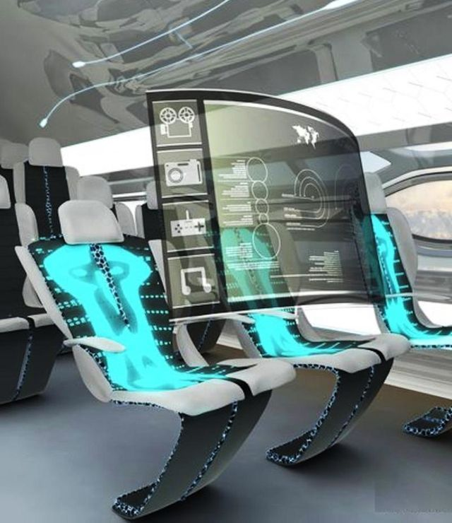 Five New Technologies That Will Change Your Life In 10 Years - Possible new technology for airlines? Luxurious Air Travel + New conceptual art for the Airbus envisions a future where the planes are equipped with holograms, a sunroof and see through-walls, touch-screen TVs and self-cleaning cabins.
