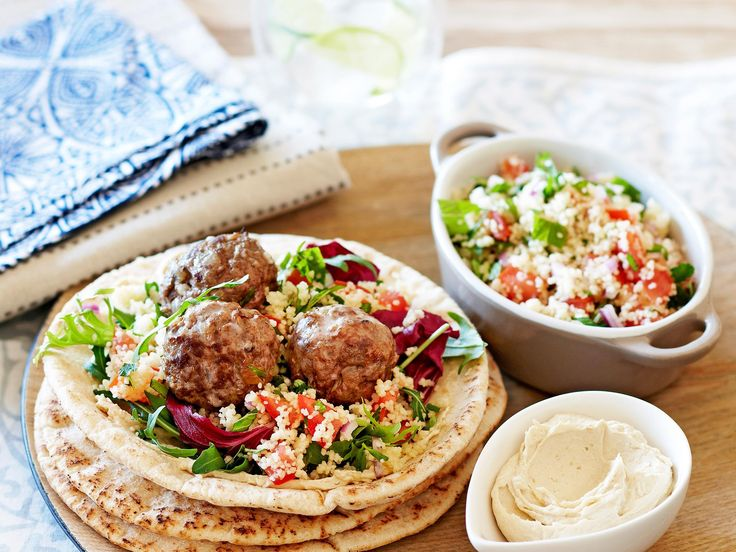 Filling and colourful, these lamb meatballs feature all the flavours of the Middle East in one delicious package. Pair with couscous salad and creamy hummus for the ultimate lunch or dinner