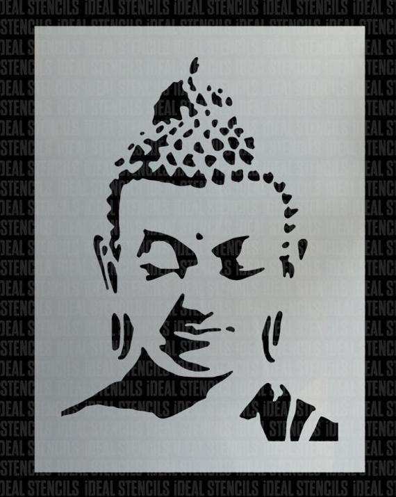 Religious Meditation Art Craft Portrait Buddha STENCIL Wall Template